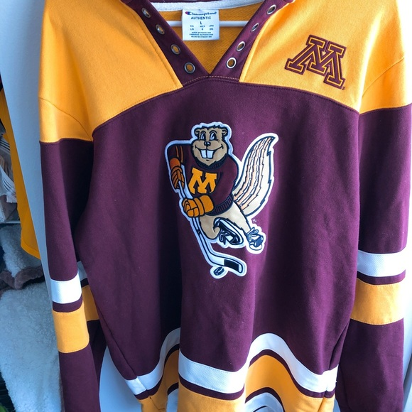 pick up c581d f30f3 Minnesota Golden Gopher hockey jersey - champion